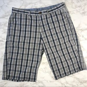 J. Crew 31w Classic Fit Cotton Plaid Dress Shorts